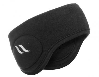 BACK ON TRACK BLACK FLEECE HEADBAND
