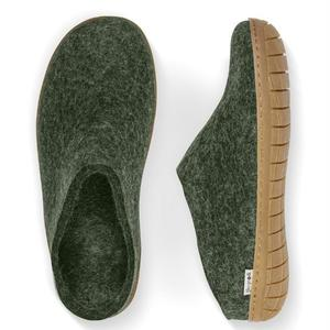 Glerups Slipper Natural Rubber Sole - Forest