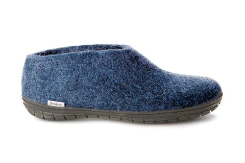 Glerups Shoe with Black Rubber Sole - Denim