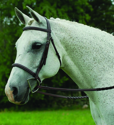 CAN-PRO FANCY RAISED PONY BRIDLE - HAVANA