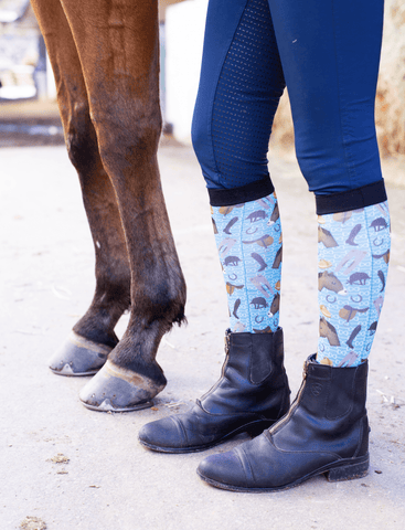 "Dreamers & Schemers ""Horse Lyfe"" Boot Sock - Pair and Spare Collection"