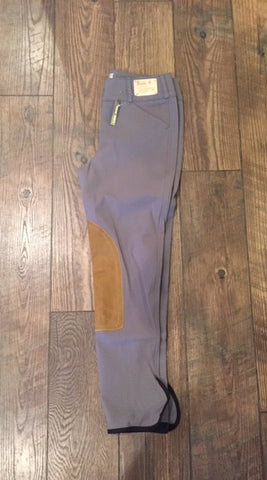 TAILORED SPORTSMAN TROPHY LOW RISE FZ HOLY SMOKE WITH TAN KNEE PATCH