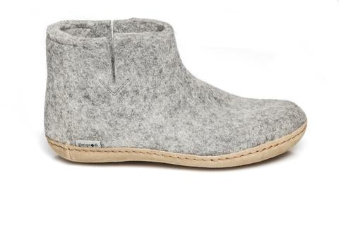 Glerups Low Boot with Leather Sole - Grey