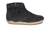 Glerups Low Boot Leather Sole - Charcoal
