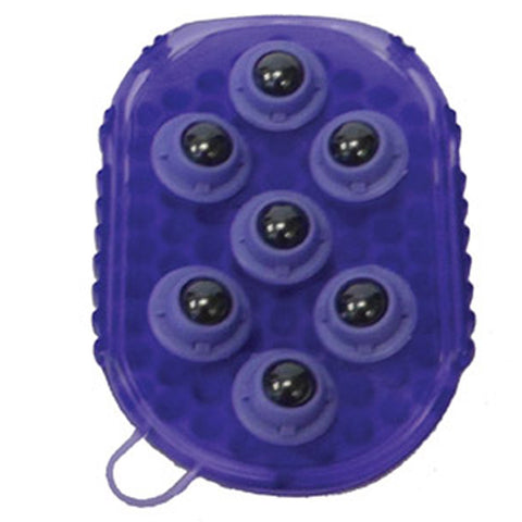 GEL GROOMER MASSAGE MITT WITH MAGNETIC ROLLERS