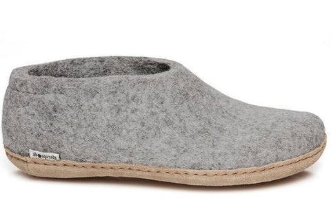 GLERUPS KIDS SHOE - GREY LEATHER SOLE