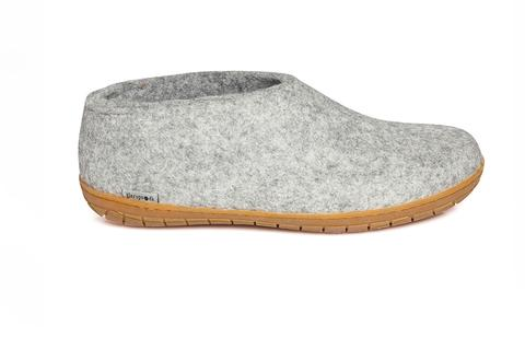 Glerups Shoe Natural Rubber Sole - Grey