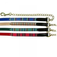 Highland Plaid Lead with Chain