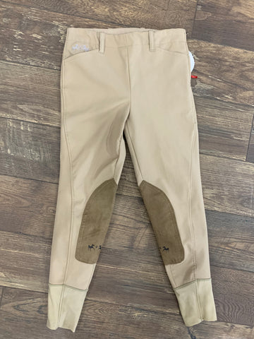 Equine Couture Kids Coolmax Champion Side Zip Breeches - size 16