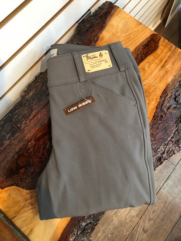 TAILORED SPORTSMAN TROPHY LOW RISE FRONT ZIP ELEPHANT WITH TAN KNEE PATCH