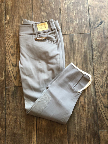 Tailored Sportsman Low Rise Front Zip VAPOUR Breeches
