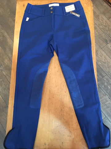 Tailored Sportsman Trophy Low Rise 1967 Front Zip Breeches - BLUEBERRY