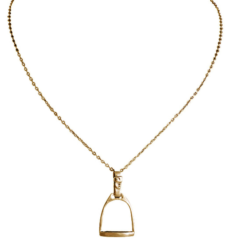 Large Stirrup Necklace - Gold