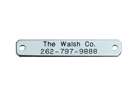 Walsh Small Engraved Nameplate