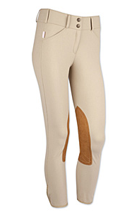 Tailored Sportsman Girls Trophy Hunter Front Zip Low Rise Tan Breeches