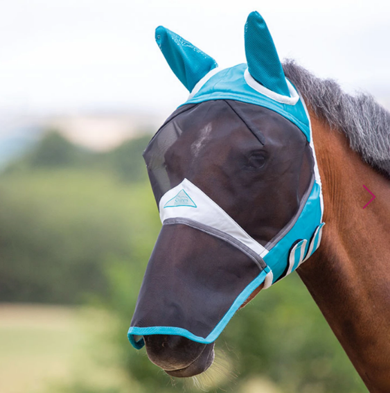 Shires Fine Mesh Fly Mask With Ears & Zip-off Nose
