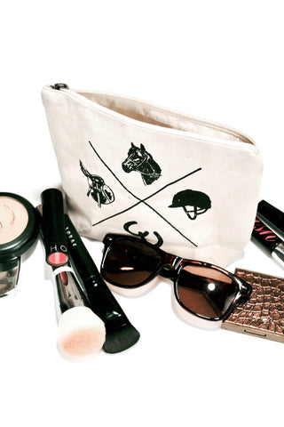 Spiced Equestrian Vintage Makeup Bag