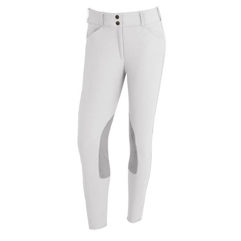 Tailored Sportsman White with Grey Knee Patch low rise front zip