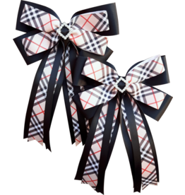 Adilize Designs Show Bows - Classic Beige Plaid