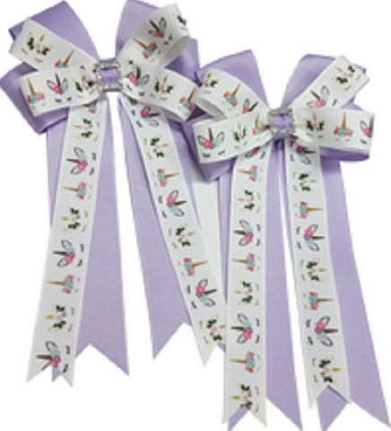 Adilize Designs Show Bows - Lilac Unicorns