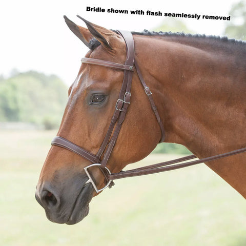 Antarès Complete Hunter Bridle Brown Fancy Stitch