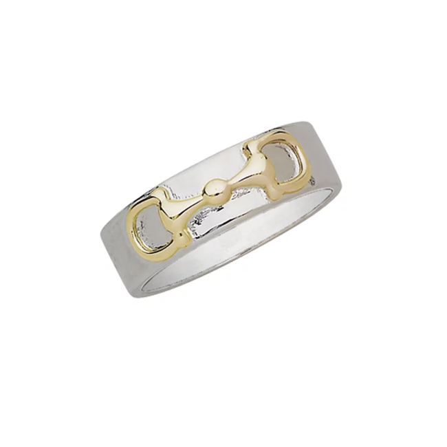 AWST Two Tone Snaffle Bit Ring - Sterling Silver
