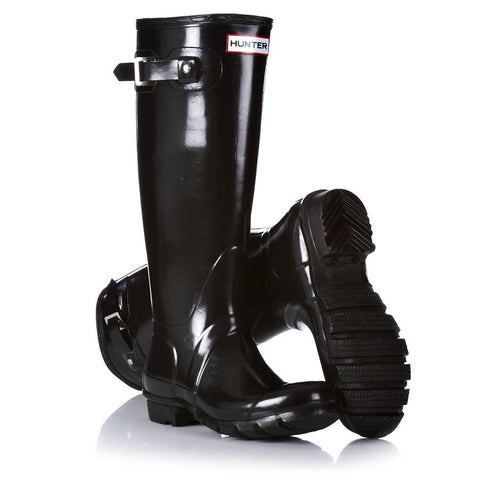 Hunter Boots Women's Original Tall Black Gloss