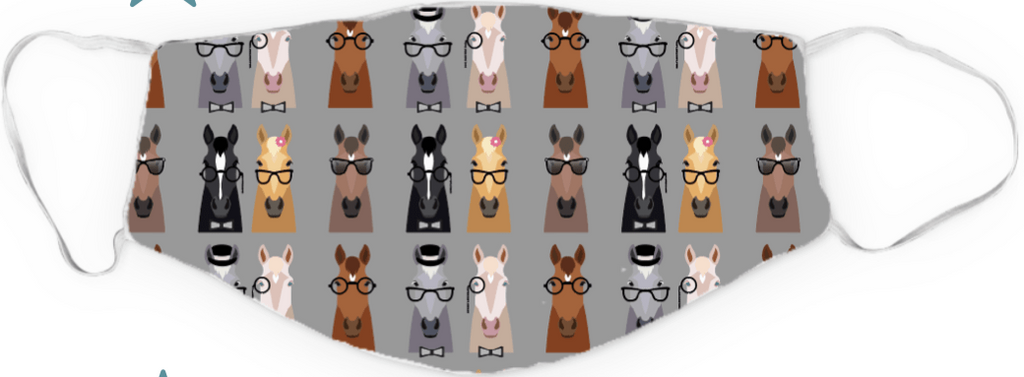 "Dreamers & Schemers Two Layer ""Smart Horse"" Face Mask"