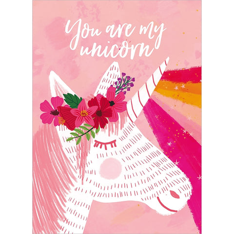 """You are My Unicorn"" Birthday Card with Matching Envelope"