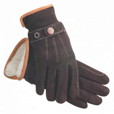 SSG #4650 DEER SUEDE BROWN GLOVES