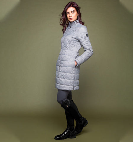 AA ALESSANDRO ALBANESE INSULA QUILTED LONG COAT - TAUPE