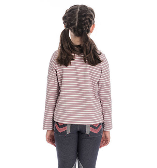 Horseware Girls Long Sleeve Top - Lilac Stripe