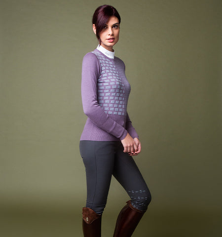 AA ALESSANDRO ALBANESE ROUND NECK EQUESTRIAN SWEATER