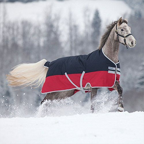 Horseware Mio Lite Rainsheet - Red & Navy