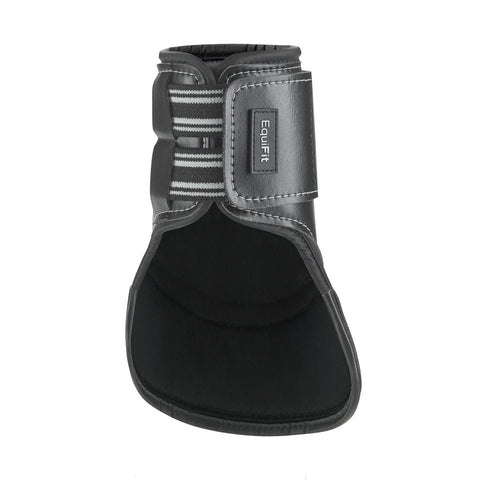EQUIFIT MULTITEQ SHORT HIND BOOTS BLACK WITH WHITE PIPING