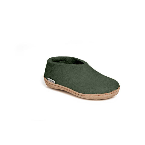 Glerups Kids Shoe Leather Sole - Forest