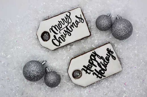 Northern Equestrian Merry Christmas/Happy Holiday Tags Cookies
