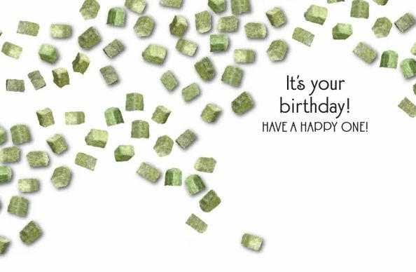 Horse Hollow Press Birthday Card - Holy Hay Cubes