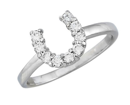 AWST Sterling Silver & Cubic Zirconia Horseshoe Ring