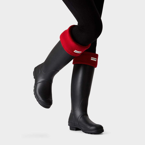 Hunter Boot Original Tall Boot Socks: Military Red