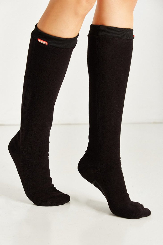 HUNTER BOOT BLACK FITTED BOOT SOCK FOR ORIGINAL TALL BOOT