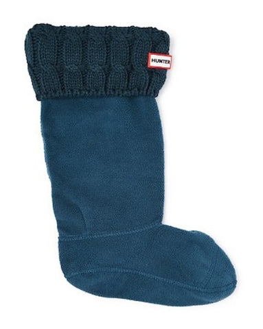 Hunter Original Six-Stitch Cable Tall Boot Socks: Ocean