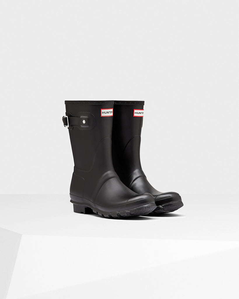 Hunter Boots Women's Original Short Black Matte
