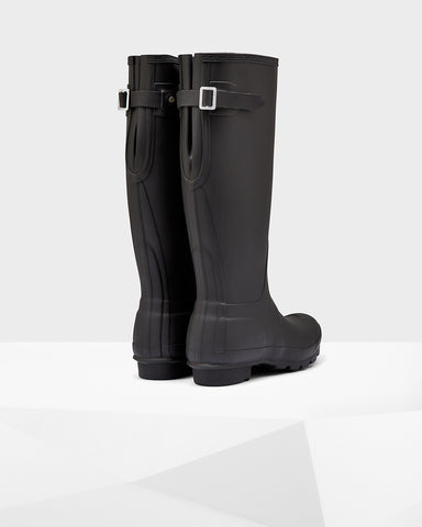 Hunter Boots Women's Original Tall Back Adjust Black