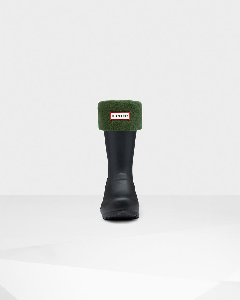 Hunter Short Boot Socks Fleece - Hunter Green