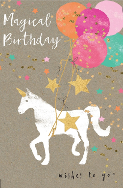 Birthday Card - Magical Unicorn