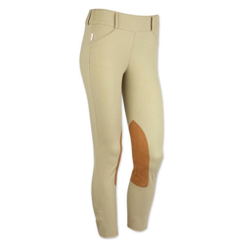 Tailored Sportsman Girls Trophy Hunter Side Zip Low Rise Tan Breeches