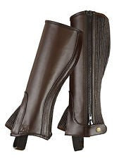 Shires Childs Leather Half-Chaps