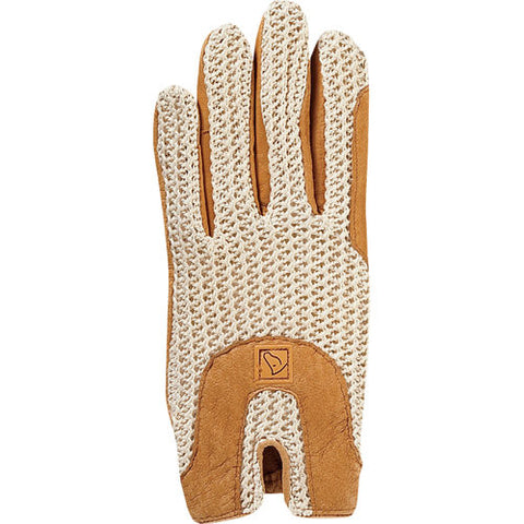 SSG Lycrochet Horseshoe Back Gloves - Natural