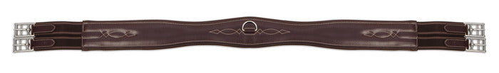 Shires Leather Overlay Girth - Havana